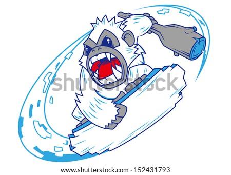 snowboarding yeti