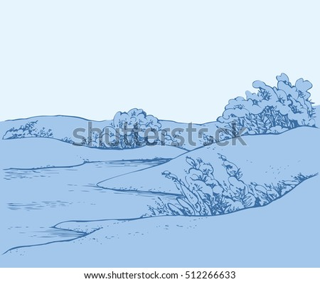 vector images illustrations and cliparts snowcovered quiet
