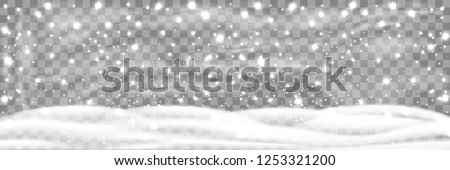 snowfall and little snow with