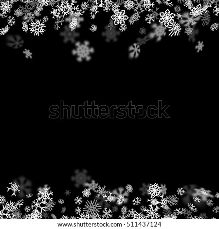 snowfall background with
