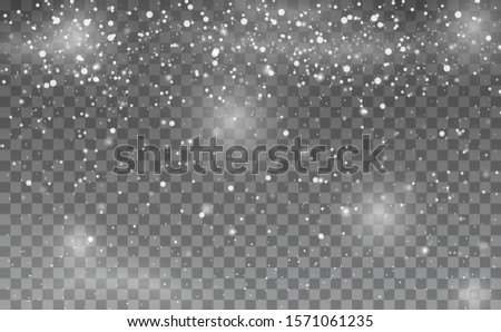 Snowfall. Snowflakes background. Many white cold snowflakes flying in the air. Merry Christmas. Happy new year. Winter Snow Falling. White glitter snowflakes. Abstract snowflake background.