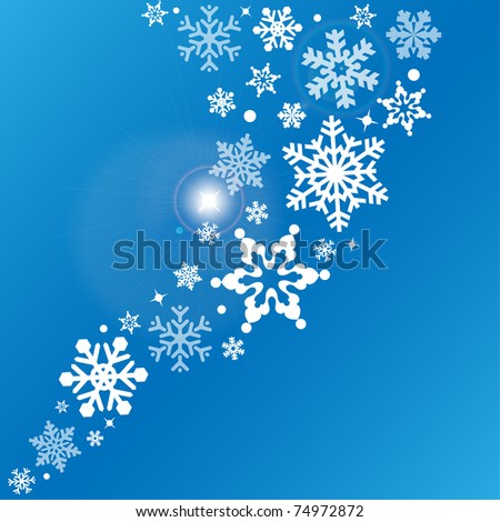 Snowflake - abstract vector background