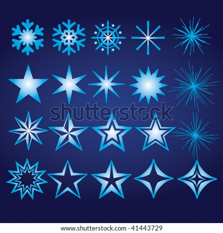 Snowflake and Star Elements