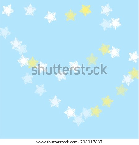 Snowflake blizzard which consists of isolated elements. Stylish, consist of beautiful elements in snowflake blizzard. Can be used as print, wallpaper, cards, poster, logo, background