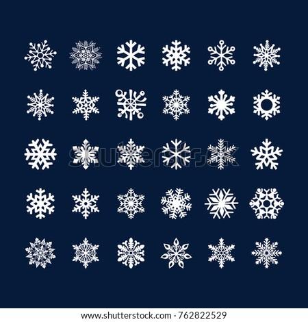 stock-vector-snowflake-clipart-vector
