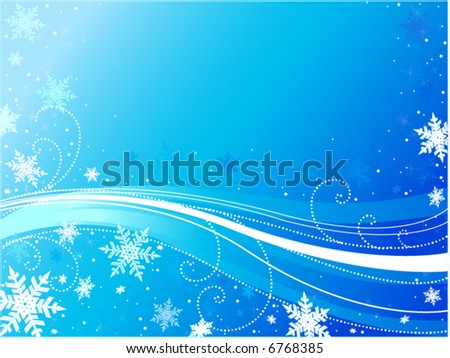 Snowflake design with blue background
