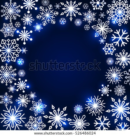 snowflake frame winter theme