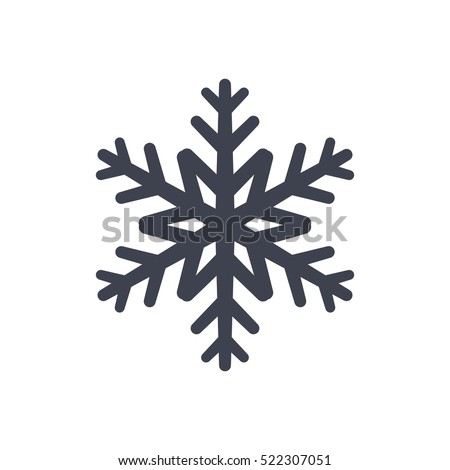 snowflake icon black