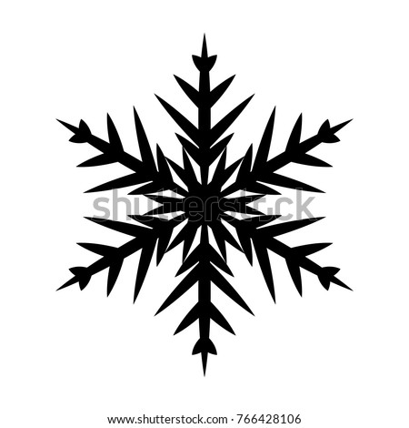 Snowflake icon. Christmas and winter theme. Simple flat black illustration on white background.