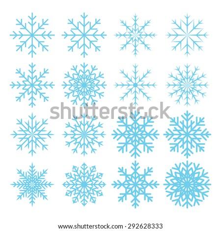 snowflake icon collection on