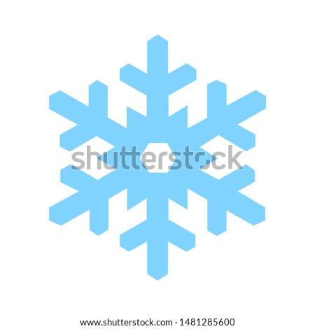 snowflake icon. flat illustration of snowflake vector icon. snowflake sign symbol