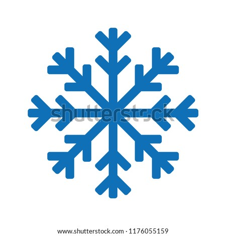 Snowflake icon or logo. Christmas and winter theme symbol. Vector and illustration.