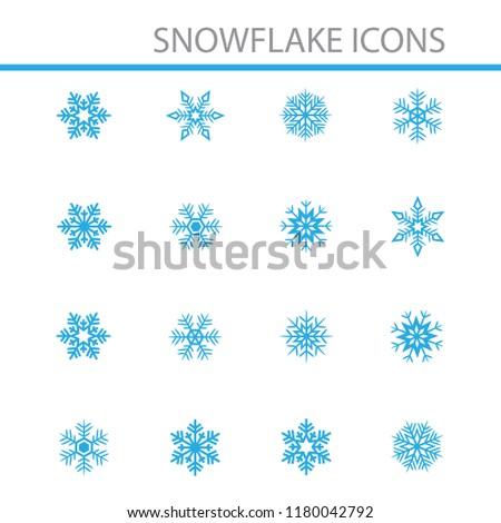 Snowflake icon set