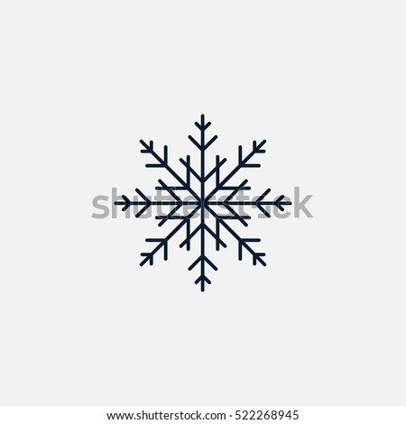 Snowflake icon simple vector illustration