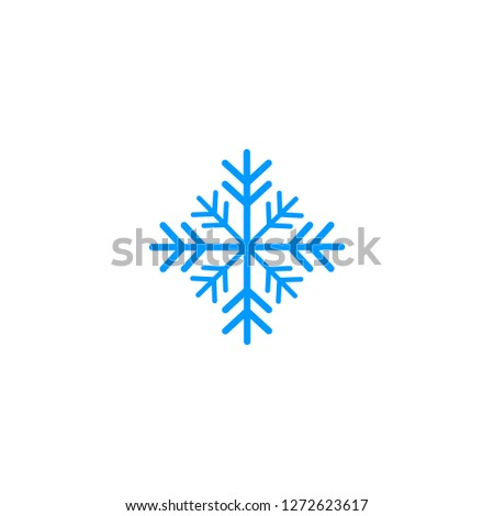 Snowflake icon, Snowflake icon vector, in trendy flat style isolated on white background. Snowflake icon image, Snowflake icon illustration eps10