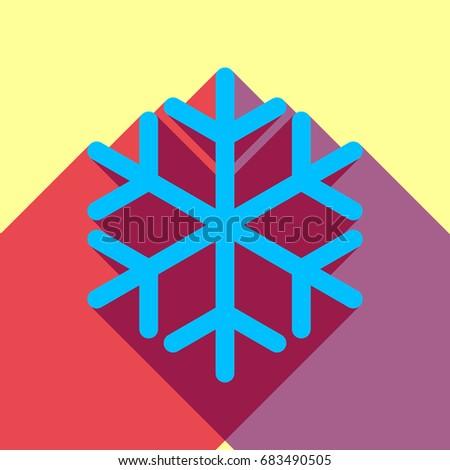 snowflake icon vector deep