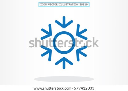 snowflake icon vector eps 10