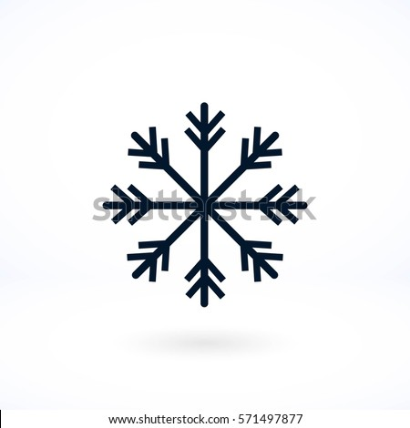 snowflake icon vector  flat