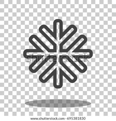 snowflake icon vector isolated
