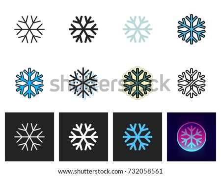 snowflake icon vector isolated