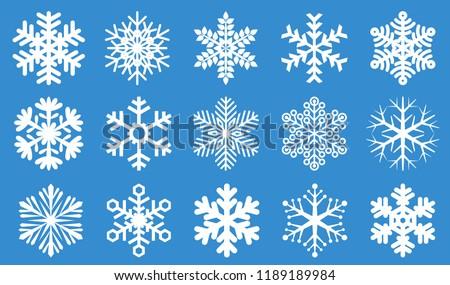 Snowflake icon vector set.