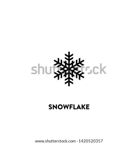 snowflake icon vector. snowflake sign on white background. snowflake icon for web and app