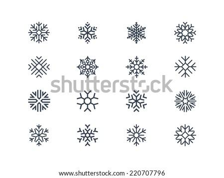 Snowflake icons 2