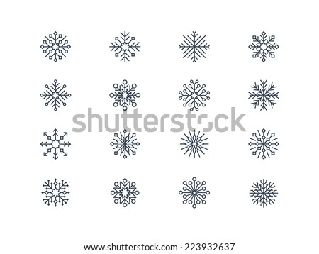Snowflake icons 6