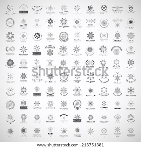 snowflake icons set   isolated