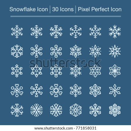 snowflake line icon,editable stroke,pixel perfect icon