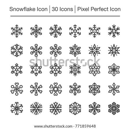 snowflake line icon,editable stroke,pixel perfect icon