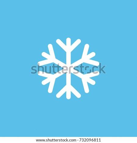 Snowflake line vector icon