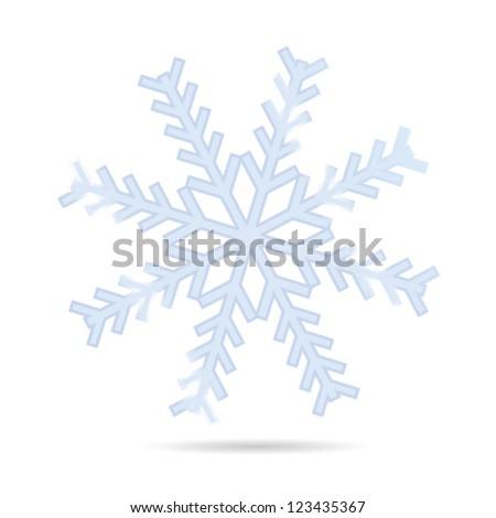 snowflake one vector illustration on white background