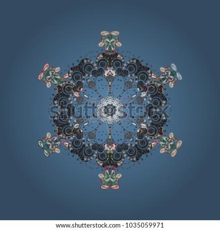 snowflake ornamental pattern