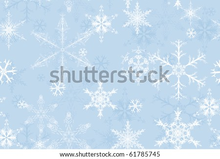 Snowflake seamless background. Illustration, vector