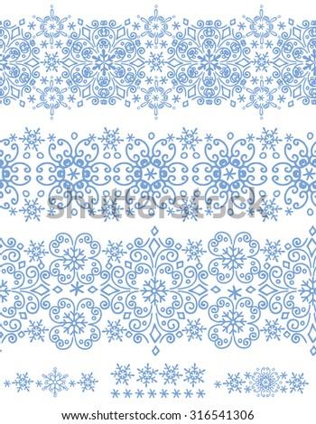 snowflake seamless  border