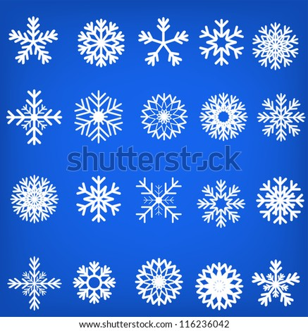 Snowflake set vector illustration