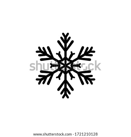 Snowflake - Silhouette - Ready for Print - Isolated on White