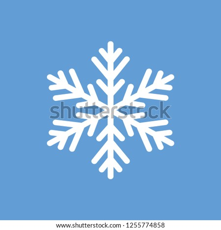 Snowflake. Snowflake icon. Snowflake on a blue background. Vector illustration. EPS 10.