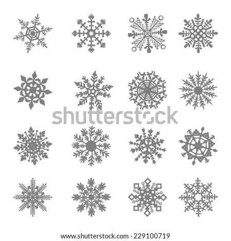 snowflake vector star white