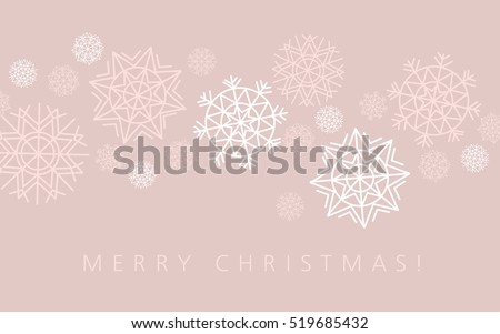 snowflake winter background in