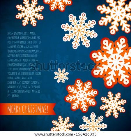 snowflake winter blue