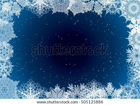 snowflake winter night