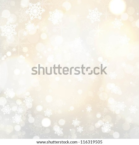 Snowflakes and stars Christmas background