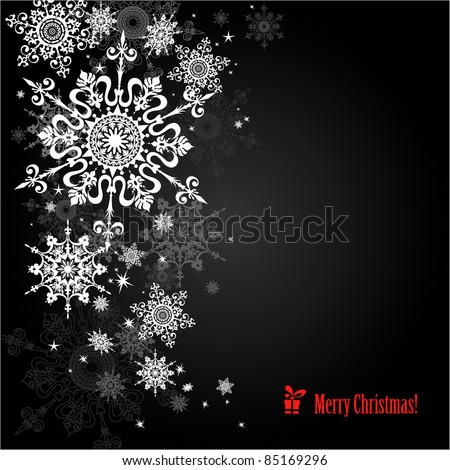 snowflakes background with