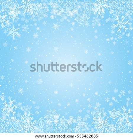 snowflakes blue radial background