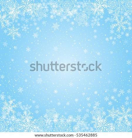 snowflakes blue radial