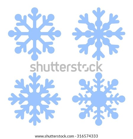 stock-vector-snowflakes-blue-vector-icon-set-christmas-background