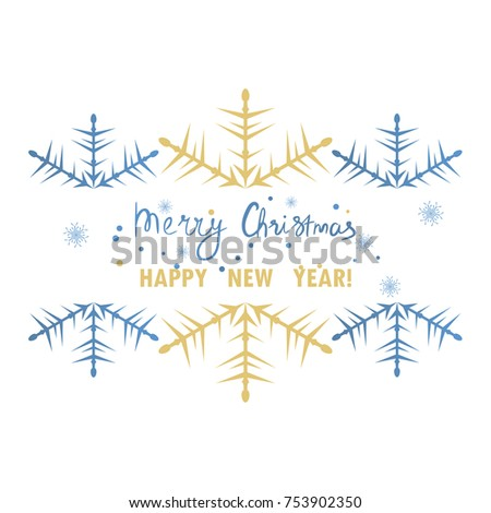 Snowflakes border for Your design. Beautifil snowflakes background