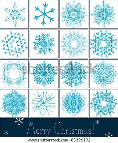 Snowflakes collection - winter series clip-art - Christmas Vector